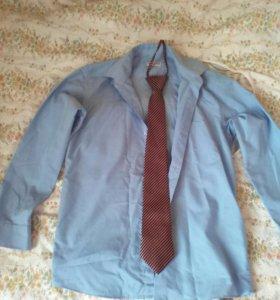 Бесплатно. Две рубашки и галстук 9-11 лет.