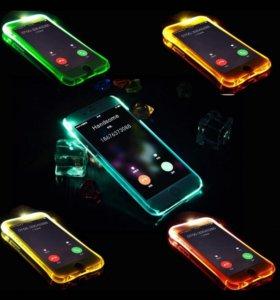 Чехол светодиодный на iPhone 6 6plus 7,8 plus