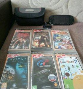 PSP 3008 с камерой и играми