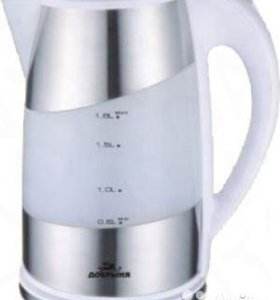 Чайник ДОБРЫНЯ DO-1206 белый, диск, пластик/сталь,