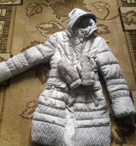 Зимние пальто для девочек худеньких, рост 134-140