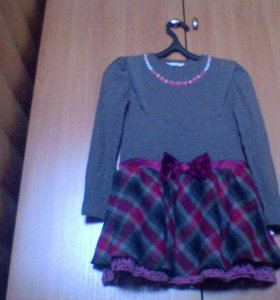 трикотажное платье для девочки (на 9 лет)