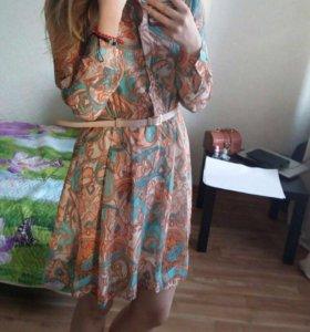 Платье шифоновое рубашка