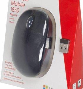 Мышь беспроводная Microsoft 1850 черный