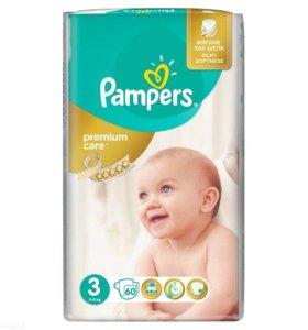 подгузники Pampers Premium Care 3 (5-9кг) 60шт