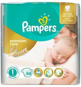 подгузники Pampers Premium Care 1(2-5кг) 88шт