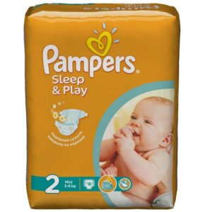 подгузники Pampers Sleep/Play 2 (3-6кг) 18шт