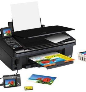 Цветной струйный принтер/сканер/копир EPSON мфу