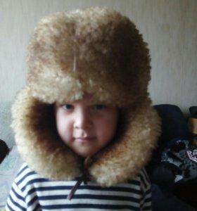 Детская шапка из овчины