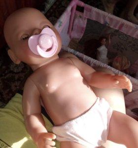 Кукла беби бон + принадлежности