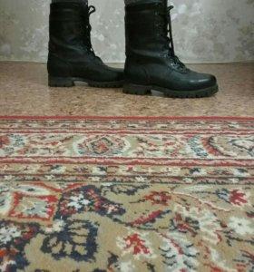 Берцы кожаные на шнуровке новые военные