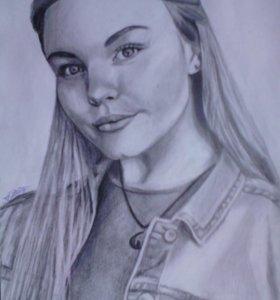 Портрет на заказ в карандаше, А4