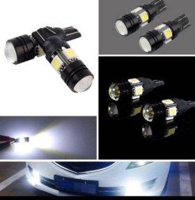 Лампочка светодиодная с линзой без цокальная Т10