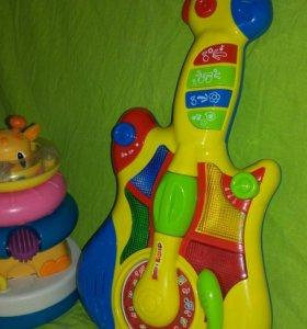Маша и медведь - музыкальная гитара