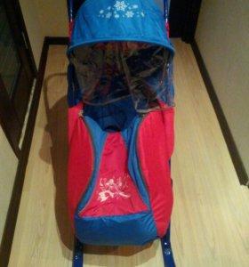 Санки- коляска с тентом