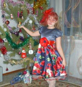 Праздничное платье с диадемкой