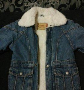 Зимняя джинсовыя куртка