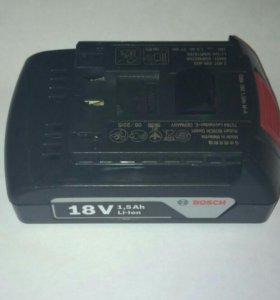 Аккумулятор bosch 18v 1.5ah