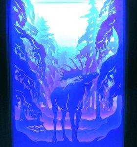 Картина светильник-ночник