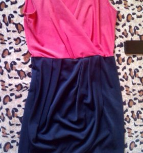 платье каралово-синие48р