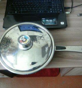 Сковорода из нержавеющей стали с антипригарным пок