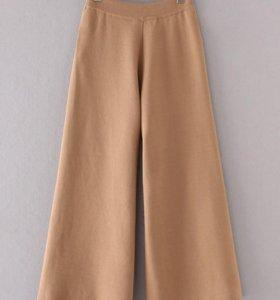 Модные широкие брюки-кюлоты