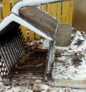 Теплообменник для печи на дровах
