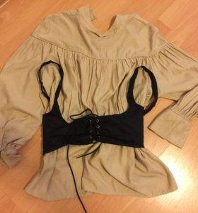 Блузка с корсетом 44-48р