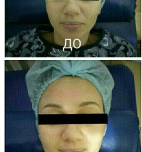 массаж лица+зоны декольте
