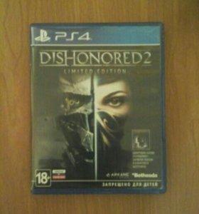 Диск на ps4 Dishonored 2