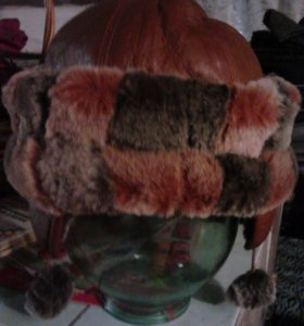 шапка нат кожа мутон