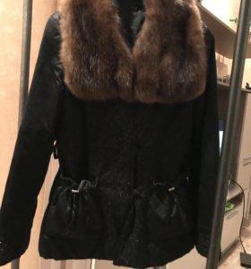 Куртка с мехом и подкладкой из кролика