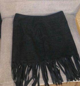 Юбка черная мини