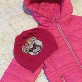 Куртка и шапочка на 3-4 года.