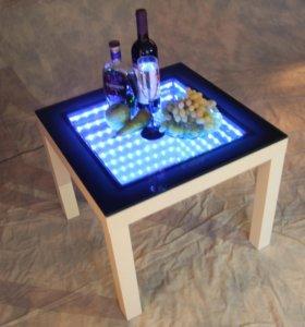 Журнальный столик с 3Д эффектом