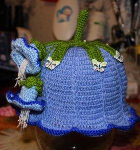 вязаная шляпка панамка колокольчик