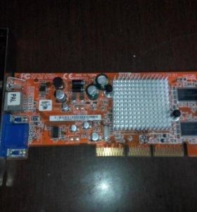 видеокарта AGP radeon 9200se 128mb