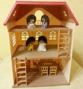 Набор Sylvanian Families (дом, ёжики, стол стулья)