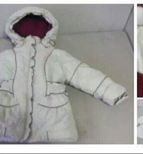 Курточка зимняя на девочку 3-5лет