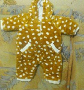 Тёплый камбенизон жирафик