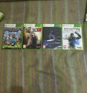 Xbox360 250гб, 2 геймпад , Kinect , 4 игры