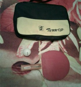 Тенисная ракетка с чехлом и шариком