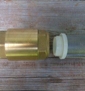 """Новый обратный клапан 1"""" + сетчатый фильтр"""