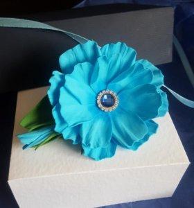 Цветы из ревелюра для волос