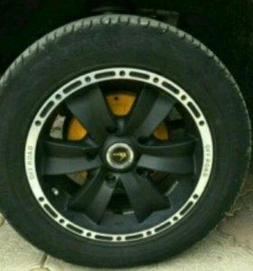 Колеса R16 для Нивы Chevrolet черные матовые