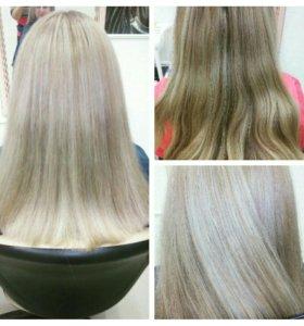 Мелирование и окрашивание волос
