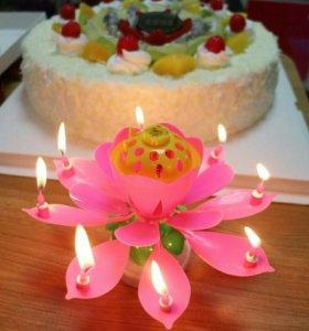 Новая музыкальная свеча для торта