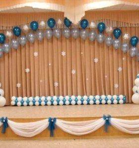 Оформление шарами детского сада на Новый год