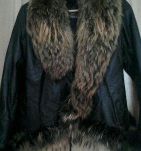 Зима. Кожаная куртка