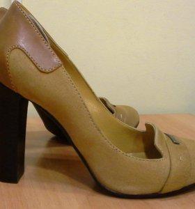 Туфли женские, кожа / замша, 38 размер